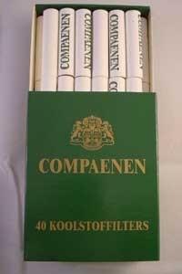 Compaenen koolstof filters 9 mm 40 st.