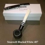 Stanwell Black&White Mat Zwart 407  9 mm filter
