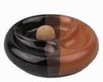 Pijpasbak Zwart & Bruin voor 2 pijpen